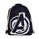 Elbenwald Avengers Sportbag Logo 46x36cm Marvel Baumwolle blau