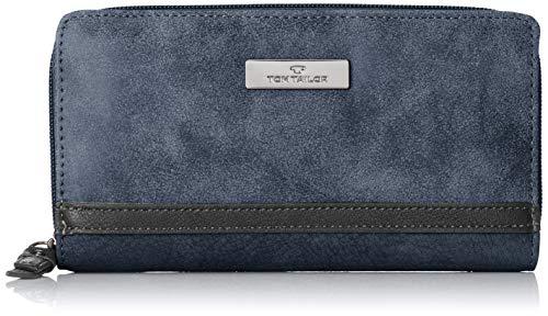 TOM TAILOR für Frauen Taschen & Geldbörsen Damenbörse Elin dark blue cognac, OneSize