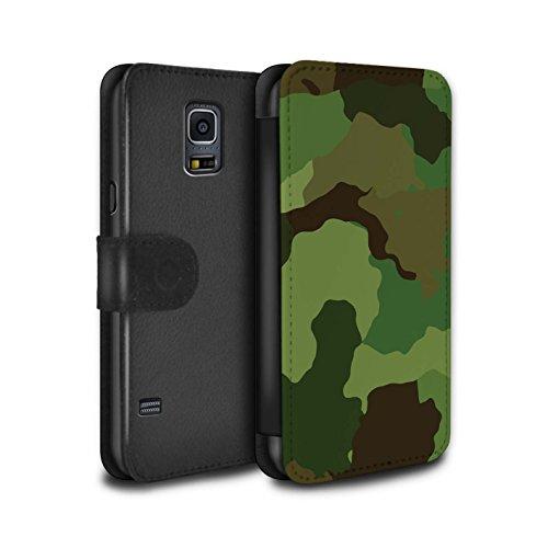 Stuff4® PU-Leder Hülle/Case/Tasche/Cover für Samsung Galaxy S5 Mini/US Waldkampf Muster/Militär Camouflage Tarnung Kollektion (S5 Tasche Galaxy Camo)