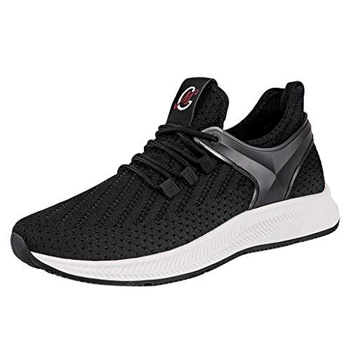 Sneakers Sportive Indossabile Scarpe da Tennis Uomo Traspiranti Esterno A Rete con Fondo Morbido Selvaggio Casual(Nero+41 EU)