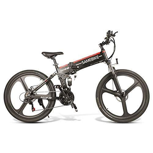Bicicleta Eléctrica de Montaña Plegable 26 Pulgadas, 10.4AH,350W, Cuadro de Aluminio, Bicicleta Eléctrica...