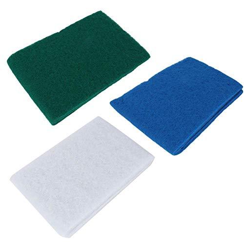 Mootea Bio Schwamm Biochemische Schwamm Filter Schwamm 3 Stücke Aquarium Biochemische Schwamm c Media Block Foam pad (Eine Zoll Schaum-blöcke)