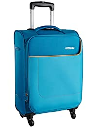 American Tourister Polyester 58 cms Turquoise Softsided Cabin Luggage (AMT JAMAICA SP 58CM TURQ)