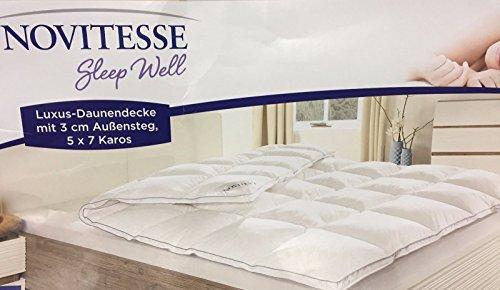 NOVITESSE Luxus Daunendecke Daunen und Federn 135 x 200 cm
