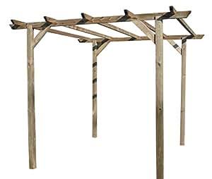 Pergola in legno da giardino Impregnata mt 3x3 da esterno