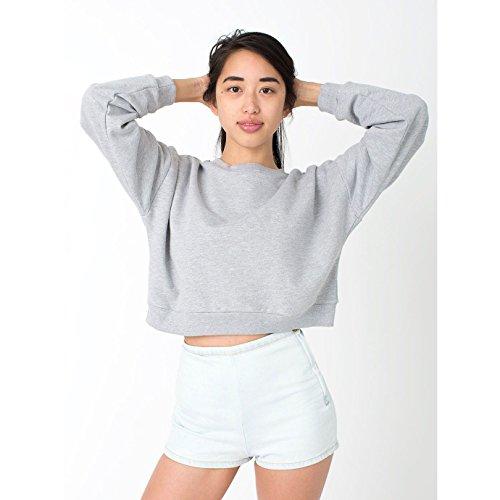 american-apparel-damen-california-fleece-sweatshirt-kurze-lange-einheitsgrosse-grau-meliert