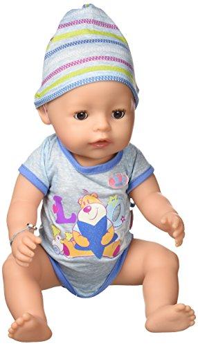 Baby Born Muñeco Interactivo niño con Accesorios, Color Azul, 37.6 x 20.1 x 18.3 (Zapf 819203)
