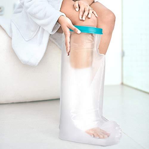 Doact Langer Wasserdichter Gips Verbandschutz zum Gipsschutz Duschschutz Fuß Fuss Schutz Gipsschutz Fuß für Erwachsener Fuß Bad und Dusche,Wunde Oder Brennen,Cover für Erwachsene (60cm)