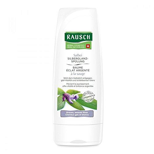 Rausch Salbei Silberglanz-Spülung (wirkt dem Gelbstich entgegen, auch ideal bei blondem Haar, ohne Silikone und Parabene - Vegan), 1er Pack (1 x 200 ml)