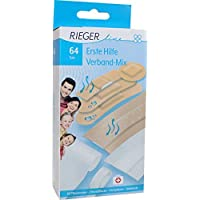 Rieger Erste Hilfe Verband-Mix 64 Teile (60 Pflaster, 2 Wundpflaster, 1 Heftpflaster, 1 Mullbinde) preisvergleich bei billige-tabletten.eu