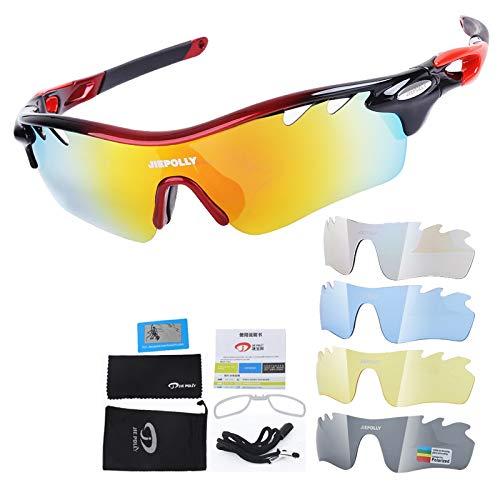 Fahrrad Schutzbrille Outdoor Sport Sonnenbrillen Fahrrad Polarisierte Reitbrille Winddicht Augenschutz Fischerei Brille Red Black Damen Herren