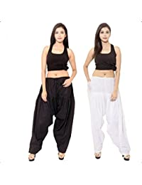 Noor Enterprises Fashion's Ready Made Fully Stitched Plain Cotton Semi Patiala Salwar With Pocket For Women/Girls1