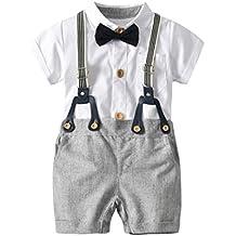 PAOLIAN Conjuntos para Bebe Niños Camisas y Pichi Verano 2018 Ropa para  Recién Nacidos Bebe Niños 27d2fcfc6c24