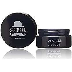 Bartmann Mentum Bartpomade, Bart-Balsam zur Bartpflege, natürliches Haarwachs für jeden Barttyp, maskulin duftendes Bartwachs, made in Germany, 50 ml