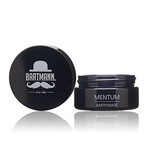 Bartmann Mentum Bartpomade, Bart-Balsam zur Bartpflege, natürliches Haarwachs für jeden Barttyp, maskulin duftendes Bartwachs, made in Germany, 50 ml -