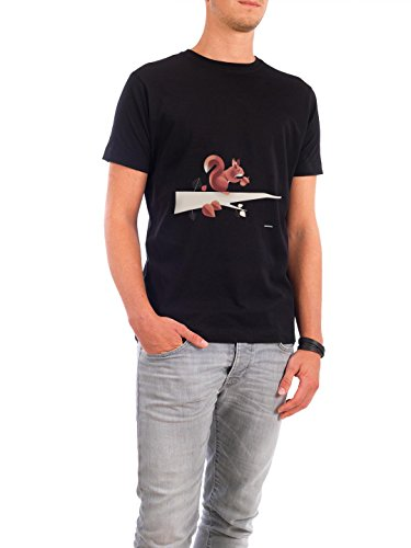"Design T-Shirt Männer Continental Cotton ""Squirrel"" - stylisches Shirt Tiere von Rainer Michael Schwarz"