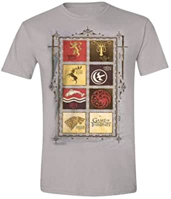 Game of Thrones - Family Sigil Homme T-Shirt - Gris - Taille X-Large