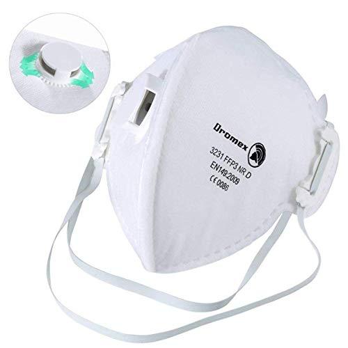 Mascarillas FFP3, Mascarilla N95 Con Válvula Máscara de Protección Respiración N99 Contra La Antipolvo Filtro 99% Fog Anti Haze PM2.5 Mascarillas (1pcs)