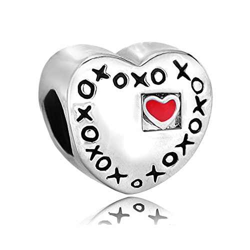 korliya rot Herz XOXO Charm Love Bead für Armband