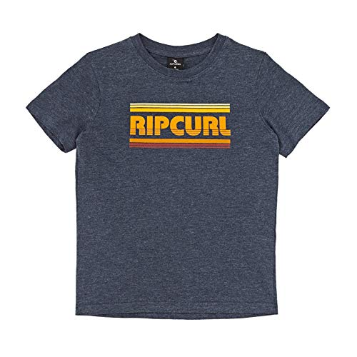 RIP CURL – Camiseta de Manga Corta para niño, diseño de Rayas