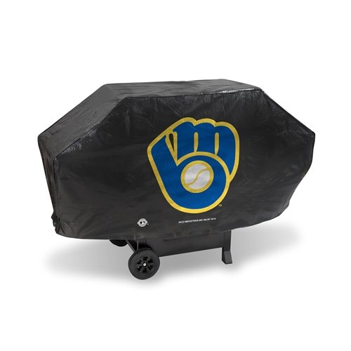 Rico Industries MLB Deluxe Grill Cover MLB Team: Milwaukee Brewers -