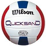 Best Beach Volleyballs - Wilson Quicksand Beach Volleyball - Size 5, White/Red/Blue Review