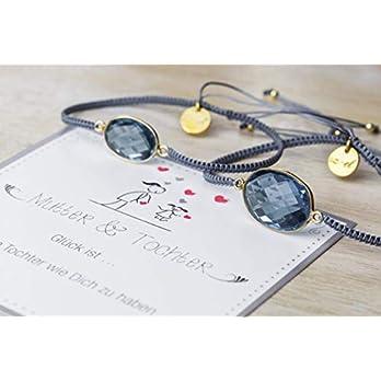 2 Armbänder Stein blau Geschenk Weihnachten