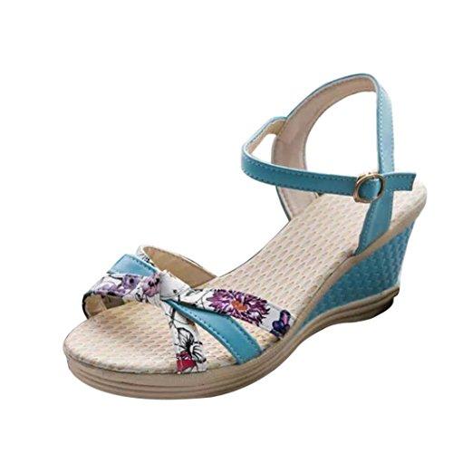 Bovake Sandales Pour Femme Bleu