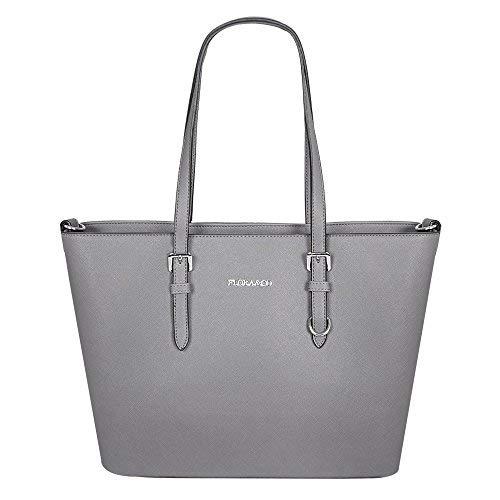 2d1c7aac8b Paris Fashion Flora & Co Damen Shopper Jet Set Tasche Travel Saffiano,  Farbe:Grau