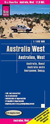 Reise Know-How Landkarte Australien, West / Australia, West (1:1.800.000): reiß- und wasserfest (world mapping project)