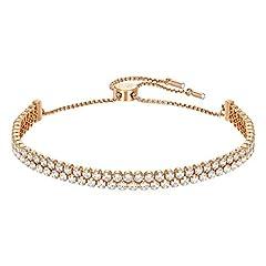 Idea Regalo - Swarovski Bracciale Subtle, Cristallo Bianco, Placcato Nella Tonalità Oro Rosa, da Donna