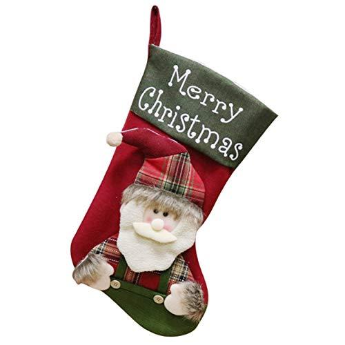 Sac cadeau grande taille pour chaussettes de Noël