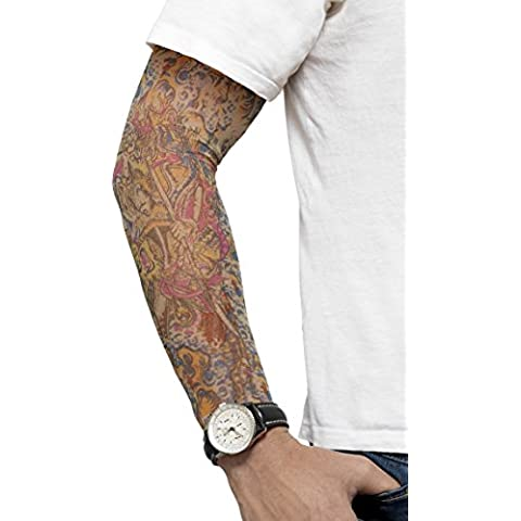 Smiffys Tattoo Arm Sleeves 2 Surtido Color Design