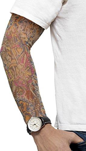 Smiffys, Herren Ärmel Tattoo, One Size, Bunt, (Halloween Tattoo Ärmel)