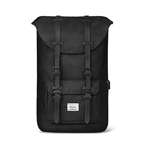 Rucksack Schule Große (35L Laptop Rucksack Backpack Schulrucksack Damen Herren Studenten 17,3 Zoll Backpack Notebook Outdoor Reise Große Kapazität mit USB Port Daypacks Schultaschen (schwarz))