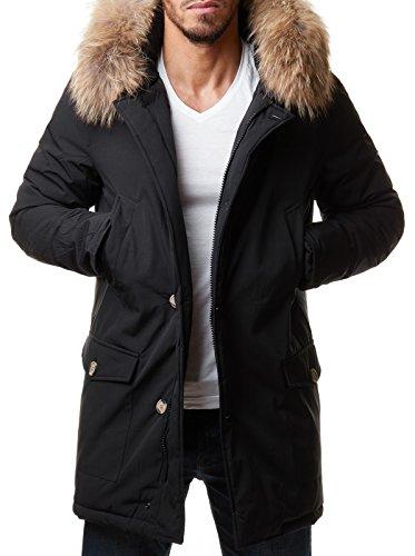 Winter jacke lang schwarz