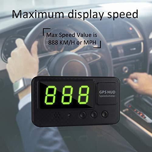 cuffslee C60S km/h MPH Digital Auto GPS Tacho Geschwindigkeitsanzeige HUD Tacho für Auto Bike Motorrad