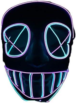 nihiug Halloween Ligne Masque Design EL Lumière Froide Lumière Lumière Lumière LED,Color-OneSize B07GTHWK7J a18d68