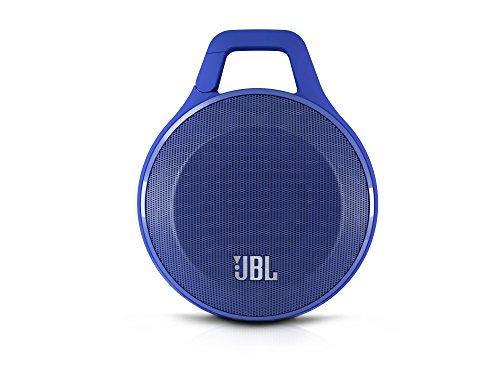 JBL Clip Bluetooth Wireless Lautsprecher (Leicht, Tragbar, Aufladbar, Draußen Wasserabweisend mit Integriertem Karabinerhaken, Kompatibel mit Apple iOS/Android Smartphones/Tablets/MP3 Geräten) blau (Clip Für Bluetooth)