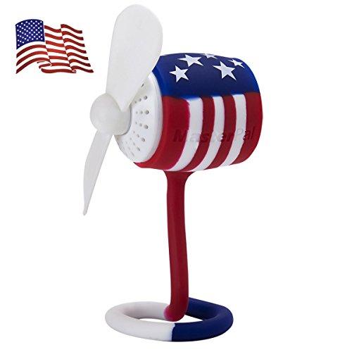 Telego Fan di Masterpal (US Flag)(Promozione Estiva): Un Potente Ventilatore Portatile da 10,000RPM, Impermeabile, Ricaricabile e Con Diffusore di Fragranze