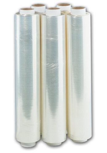 Palettenfolie Stretchfolie 300 m lang 50 cm breit, 17µ Transparent Durchsichtig 6 Rollen