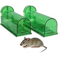 Aookey Ratoneras Trampa, Ningunos Ratones de la Captura de la Muerte Vivos, Reutilizable y Fácil de Usar la Trampa Snap de la Rata