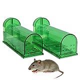 Aookey 2stuks mäusefalle, Milieuvriendelijke rattenfallen, muis lebendfallen aas levend geval–professinonelle kastenfalle voor tuin & huis