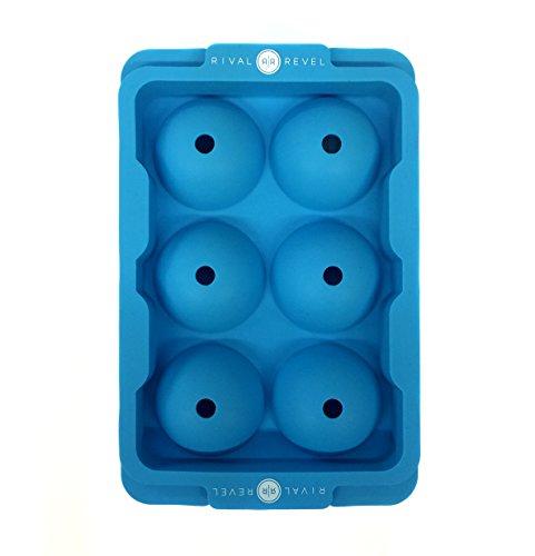 Ice Cube Maker Crushed (Ice Cube Tablett–Form macht 6Golf Ball Ice Rocks–Blau–Chill jedes Getränk jeder Zeit des Jahres–Neuheit Golf Geschenk von Rival und Revel)