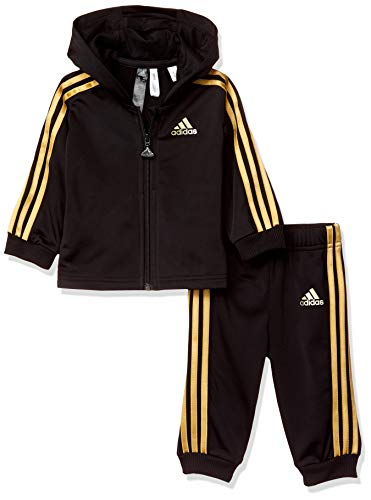 adidas Shiny Hooded Trainingsanzug Kinder