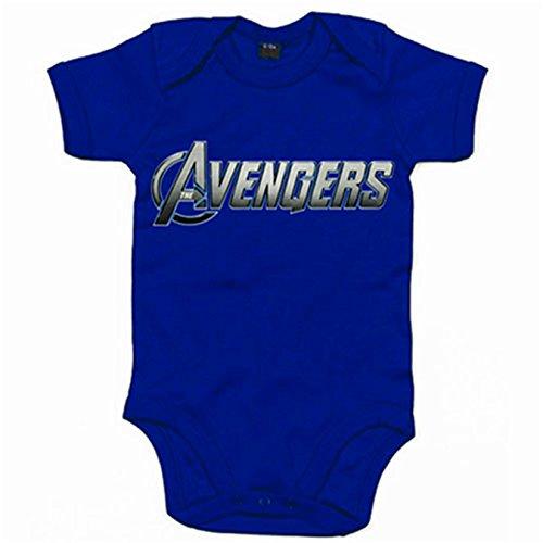 Body bebé Los Vengadores Avengers logo - Azul Royal, 6-12 meses