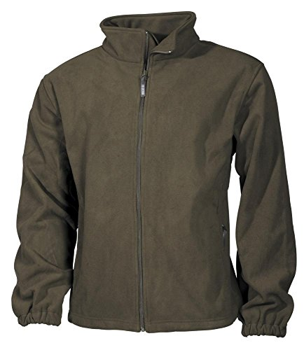 Giacca in pile, Mountain, verde oliva, 100% poliestere, oliva, X-Large