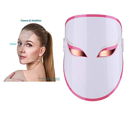 MCCW LED-Maske, Phototherapie Aknemaske Led Gesichtshautmaske Photon Behandlung Beauty Equipment für die Hautverjüngung Whitening Anti-Aging-Hautflecken