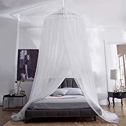 iRainy mosquito net bed, large mosquito net incl. mounting material, canopy, mosquito repellent, mosquito protectionF, mosquito net also on the journey