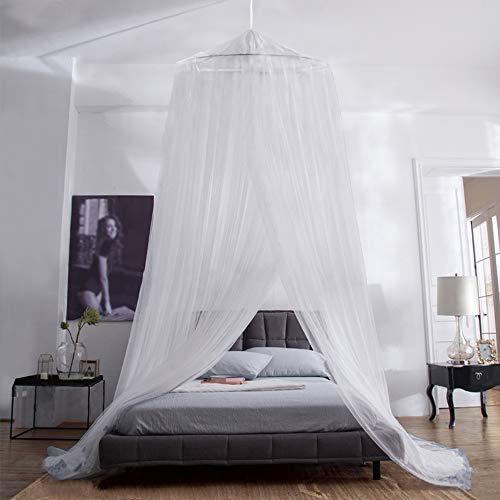 iRainy Moskitonetz Bett, Groß Mückennetz inkl. Montagematerial, Betthimmel, Mückenschutz, MoskitoschutzF, Fliegennetz auch auf der Reise